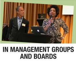 In management groups and boards